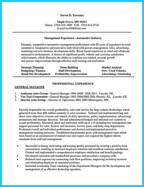 writing  clear auto sales resume