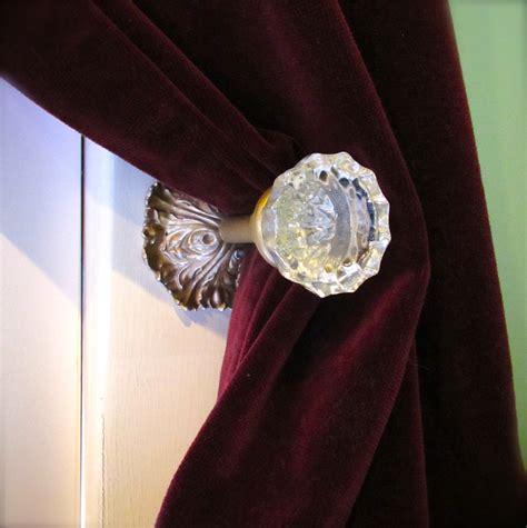 i m projecting again glass doorknob curtain tie backs
