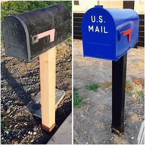 Spray, Painted, Mailbox, Makeover, U2013, The, How, To, Duo