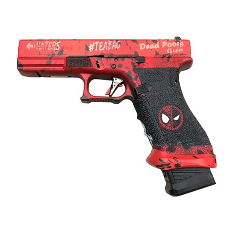 Ascend Airsoft x WE G17 GBB Pistol (Deadpool Style) - Red