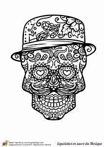 Tete De Mort Mexicaine Dessin : un dr le de t te de mort mexicain colorier coloriages ~ Melissatoandfro.com Idées de Décoration