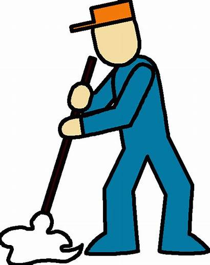 Janitor Clipart Floor Cleaning Clip Janitorial Janitors