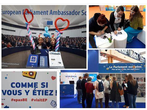 le bureau europeen le parlement européen au salon éducation à charleroi