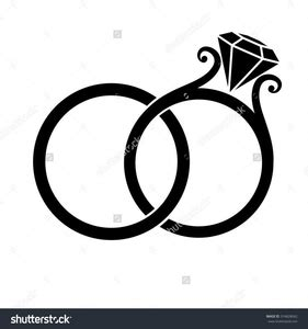 intertwined wedding rings clipart free images at clker