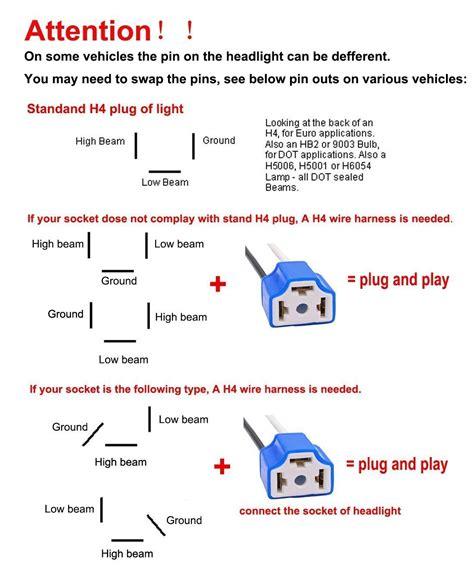 H4 Halogen Bulb Wiring Diagram by H4 Headlight Wiring Terminals Wiring Diagram