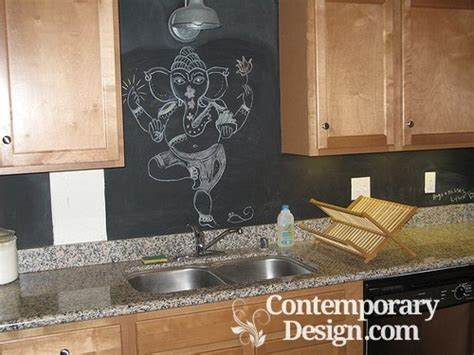 Chalkboard Paint Kitchen Backsplash : Chalkboard Paint Backsplash