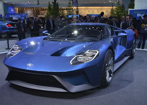 ford gt   naias front photo blue paint size