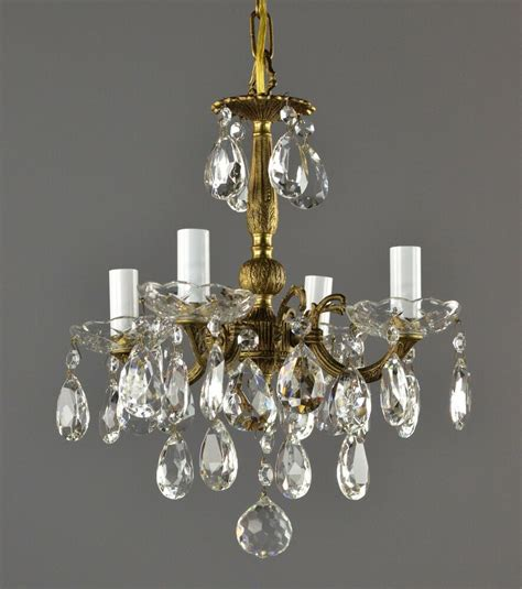 Large Brass Chandelier by Large Brass Chandelier C1950 Vintage