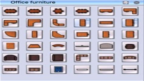 floor plan office furniture symbols  description
