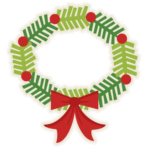 Christmas Wreath Svg Free Clipart  – 297+ Crafter Files