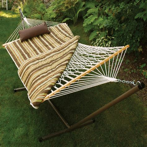 algoma cotton rope hammock stand pad  pillow set hammocks swings  shop  exchange