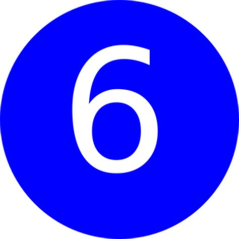 Number 6 Blue Background Clip Art At Clkercom Vector