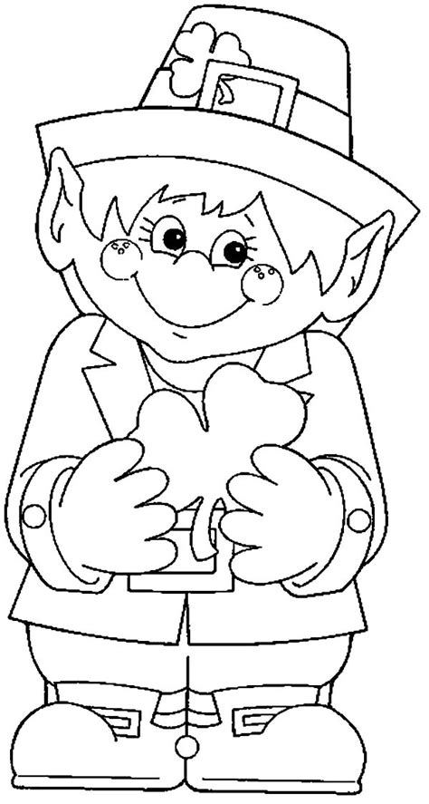 Leprechaun coloring pages to download and print for free
