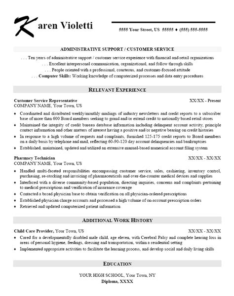 administrative assistant resume resume format