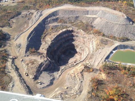 Open Pit by Wallbridge Mining Company Limited Broken Hammer Open Pit