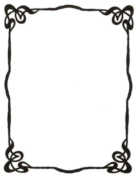 art nouveau ink picture frame  enchantedgal stock