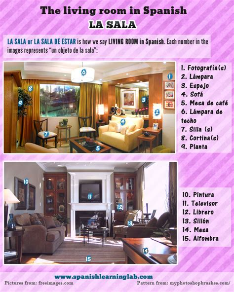 is livingroom one word things in the living room in spanish sentences and descriptions spanishlearninglab