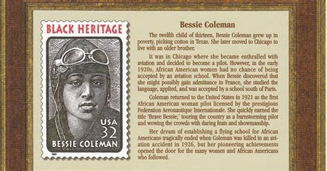 bessie coleman flying  blues bessie coleman honored