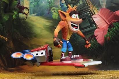 Crash Neca Bandicoot Deluxe Action Hoverboard Figure