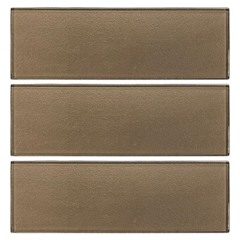 glass wall tile jeffrey court aluminum 4 in x 12 in glass wall tile 3 pack 99787 the home depot
