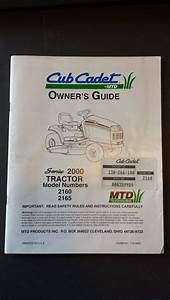 Cub Cadet 2160 2165 Tractor Owner U0026 39 S Guide