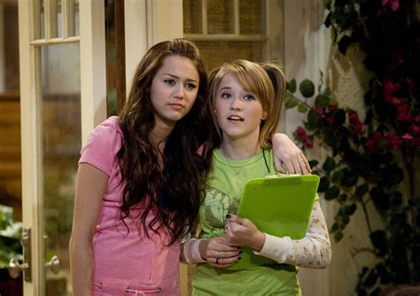 emily osment and miley miley cyrus 187 emily osment and miley cyrus tv series