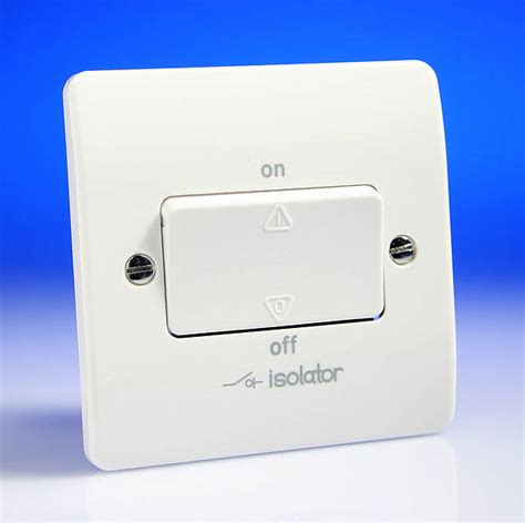 3 pole fan isolator switch white