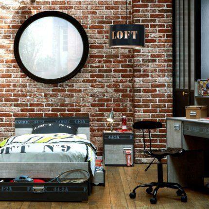 chambre style industrielle une chambre de garçon esprit loft loft et simple