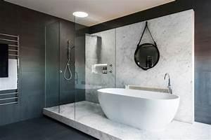 salle de bains design monochromatique par minosa design With salle de douche design