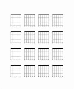 Blank Guitar Chord Chart Template