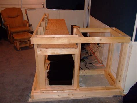 Building A Bar In The Basement by How To Build A Basement Bar The O Shea Family Weblog