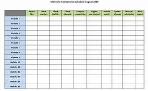web designers download our handy quotmonthly maintenance and With monthly task list template excel