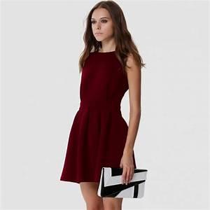 casual dark red dresses Naf Dresses