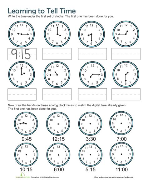 time worksheets examples   examples