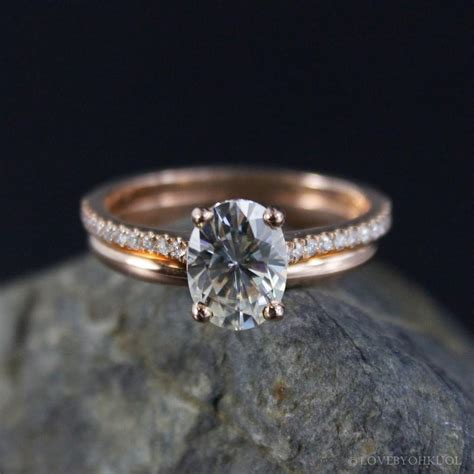 forever brilliant oval solitaire engagement ring wedding comfort fit wedding band