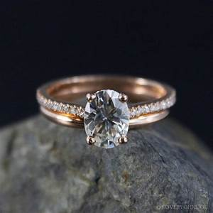 Forever brilliant oval solitaire engagement ring wedding for Oval engagement ring with wedding band