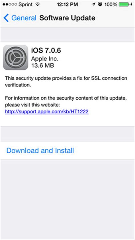 iphone ios update ios 7 0 6 for iphone and ipod touch