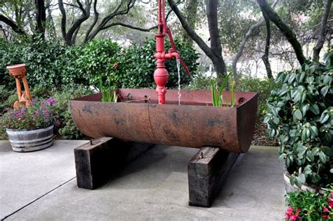 rustic garden features items similar to the big pappa quot rustic water fountain on etsy