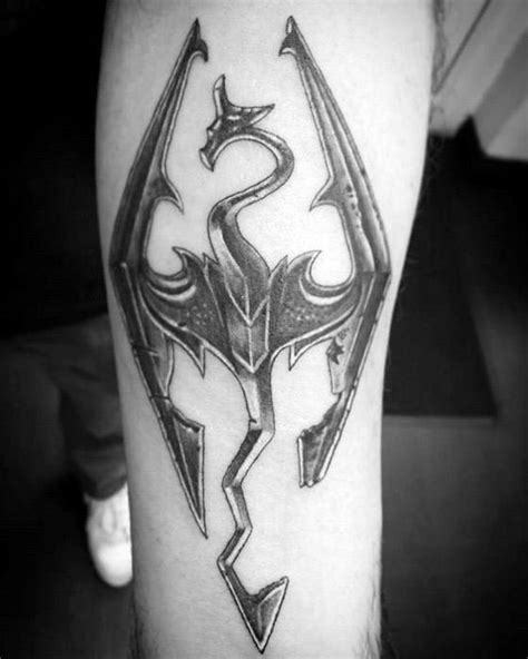 50 Skyrim Tattoo Designs For Men - Video Game Ink Ideas