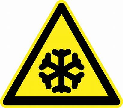 Warning Hazard Signs Cold Clipart Clip Freezing