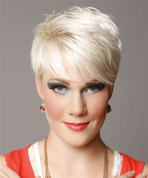 Platinum Hairstyle by Light Platinum Hairstyle With Side