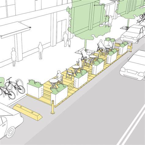 parklets national association  city transportation