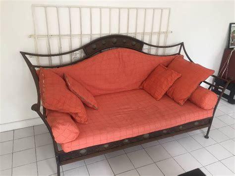 canapé en fer forgé canapé fer forgé annonce meubles et décoration orient