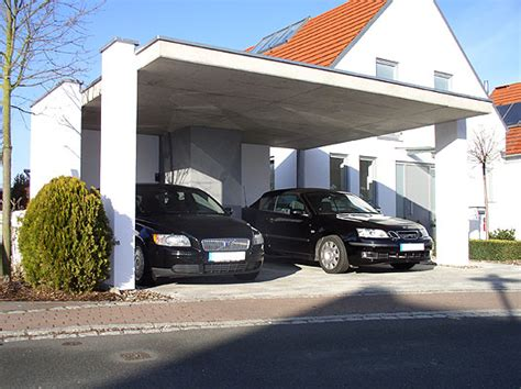 Offene Garage In Obermichelbach  Carport In Sichtbeton