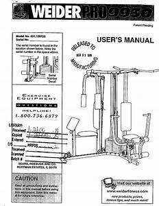 Weider 831159720 User Manual Pro 9930 Manuals And Guides