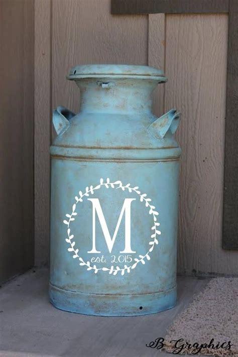 milk  decal farmhouse decor monogram decal vinyl