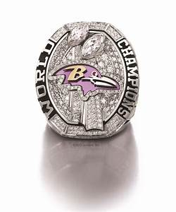 The Baltimore Ravens' Super Bowl rings are pretty awesome ...