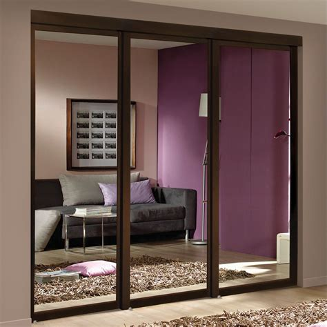 Sliding Closet Doors Canada espresso mirrored sliding closet door lowe s canada