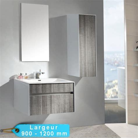 meuble de salle de bain suspendu astree 90 et 120 avec vasque blanche masalledebaindesign fr