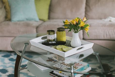 They tell me to return my seat back and tray table to their original upright positions. DIY Coffee Table Tray - Tori Watson